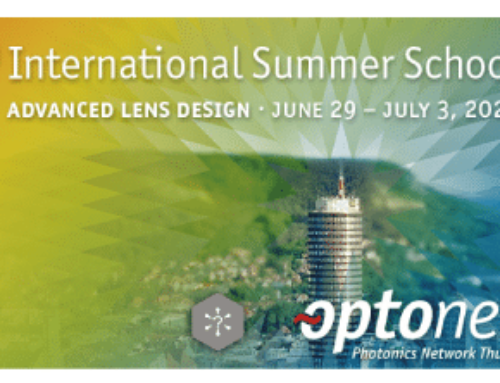 3rd OptoNet Summer School – Advanced Lens Design
